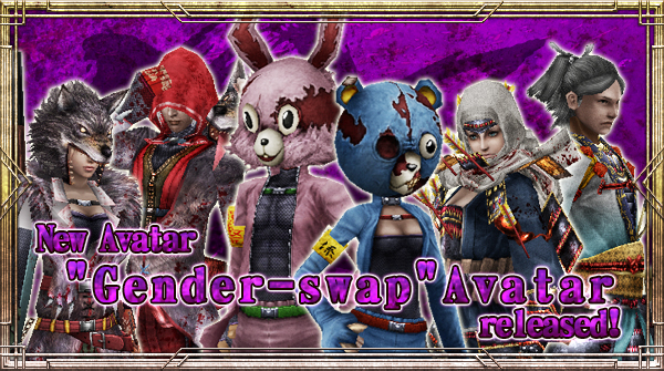 "New Avatar ""Gender-swap"" will be available!"