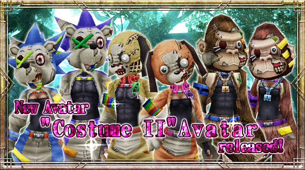 "New Avatar ""Costume II"" will be available!"