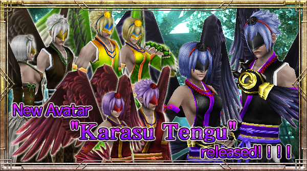 "New Avatar ""Karasu Tengu"" will be available!"