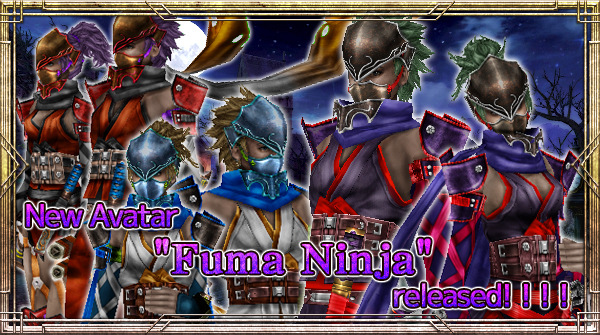 "New Avatar ""Fuma Ninja"" will be available!"