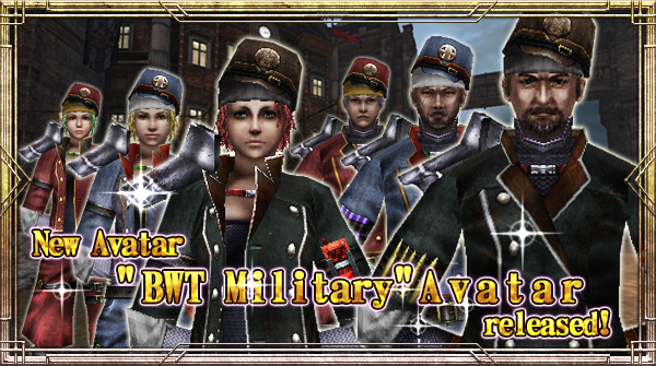 "New Avatar ""BWT Military"" will be available!"