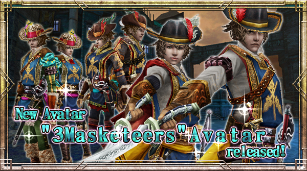 "New Avatar ""3Masketeers"" will be available!"