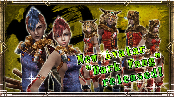 "New Avatar ""Dark Fang"" will be available!"